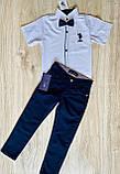 Рубашка белая Polo для мальчика 1-4 лет, фото 3