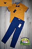 Оранжевая рубашка Armani с коротким рукавом для мальчика 3-4 года, фото 3