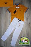 Оранжевая рубашка Armani с коротким рукавом для мальчика 3-4 года, фото 4