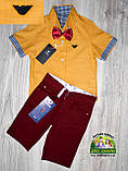 Оранжевая рубашка Armani с коротким рукавом для мальчика 3-4 года, фото 6