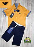 Оранжевая рубашка Armani с коротким рукавом для мальчика 3-4 года, фото 8