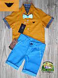 Оранжевая рубашка Armani с коротким рукавом для мальчика 3-4 года, фото 5