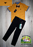 Оранжевая рубашка Armani с коротким рукавом для мальчика 3-4 года, фото 7