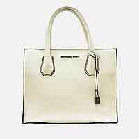 Жіноча середня сумка бежева MK велика повсякденна, фото 1
