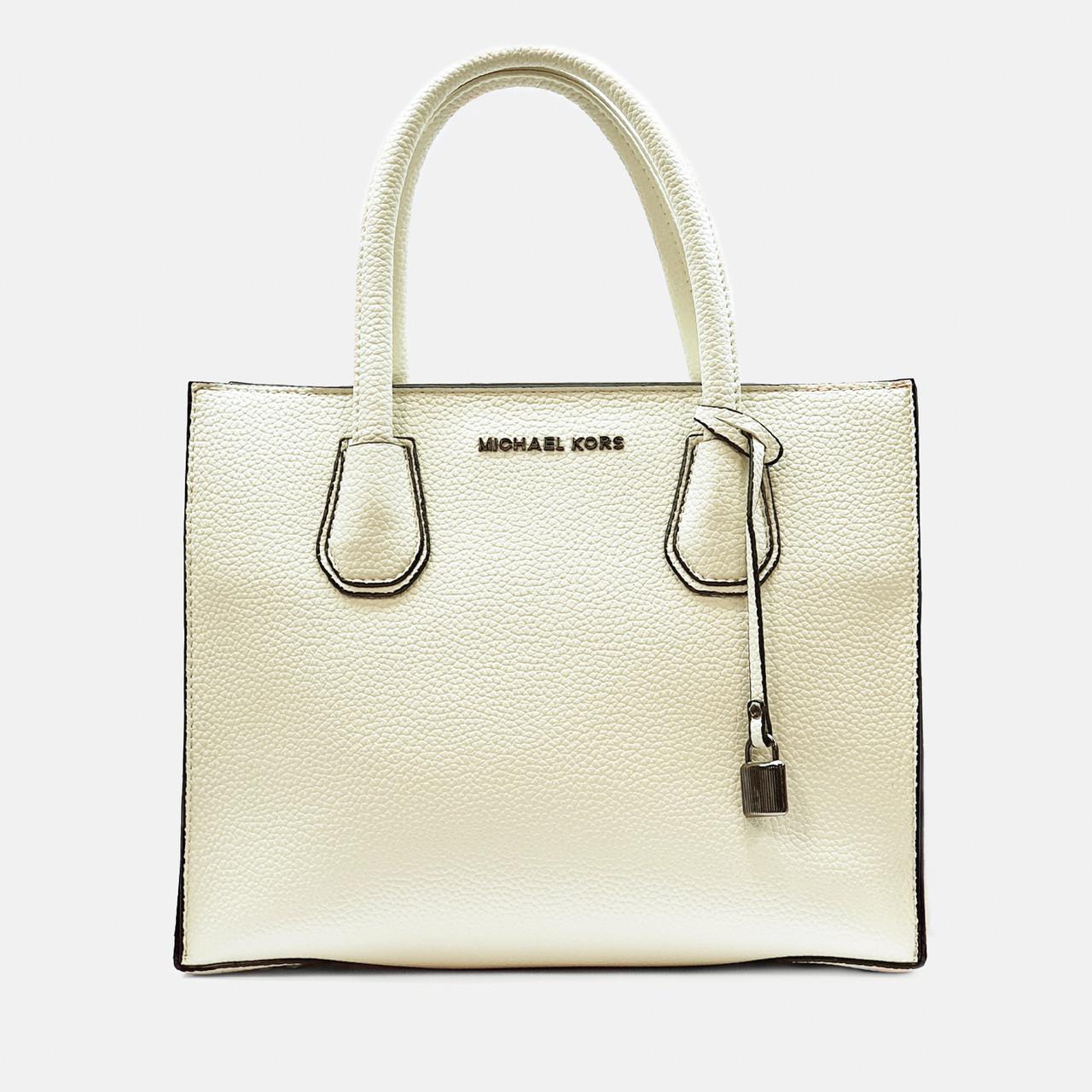 Жіноча середня сумка бежева MK велика повсякденна