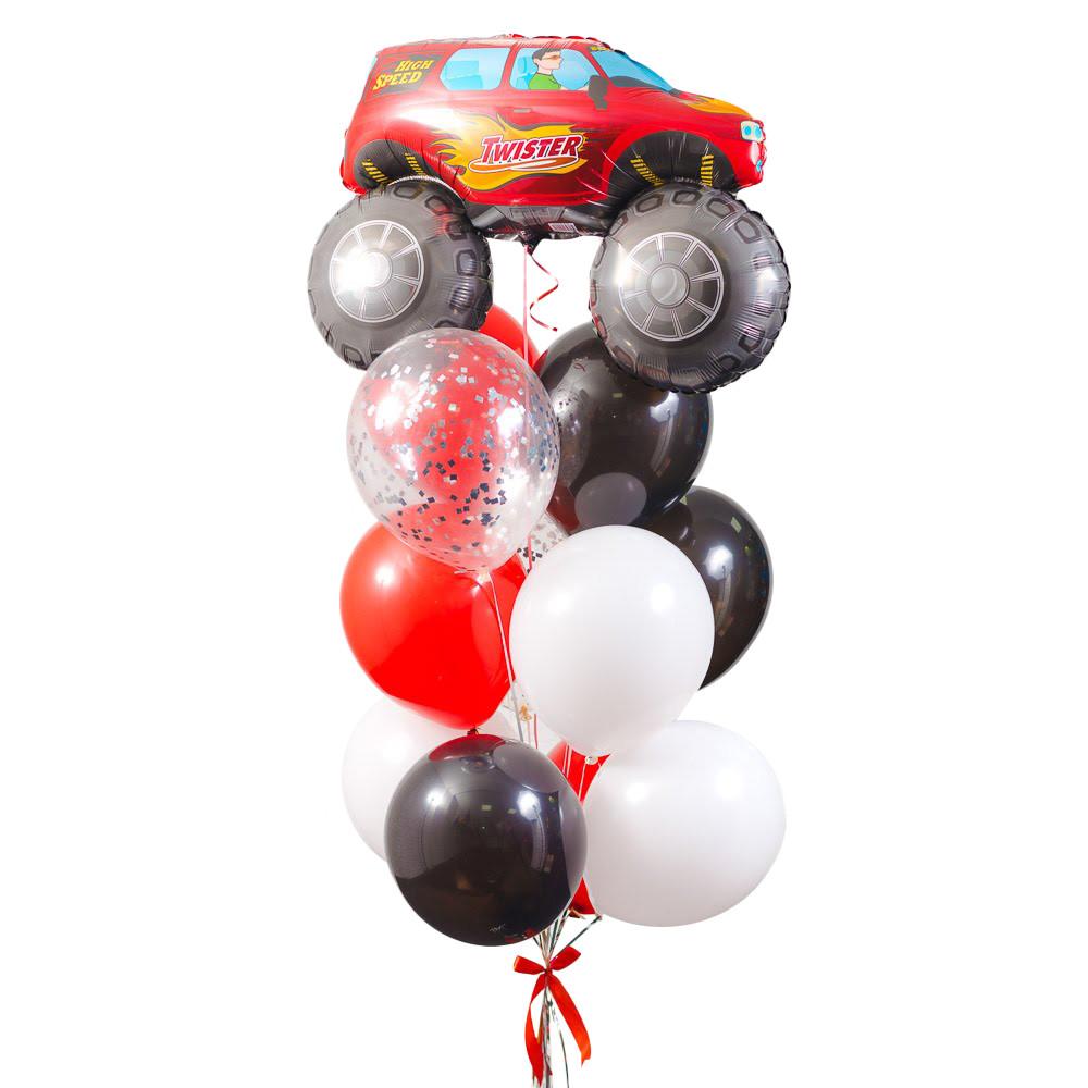 Фонтан з гелієвих кульок для хлопчика