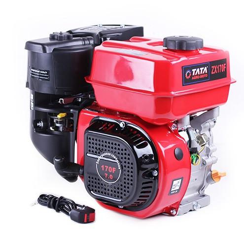 Двигатель бензиновый TATA 170FB (под шлицы Ø20 mm, 7 л.с.)