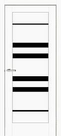 Двери межкомнатные ОмиС Рино 06стекло черное