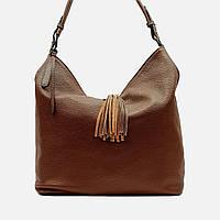 Модная женская коричневая сумочка кожаная 1970