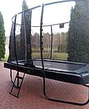 Батут EXIT Elegant Premium прямоугольный 214х366 cm black, фото 10