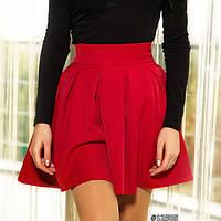 Короткая юбка солнце-клеш