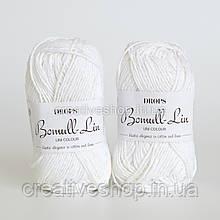 Пряжа Drops Bomull-Lin (цвет 01 white)