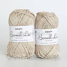 Пряжа Drops Bomull-Lin (цвет 03 light beige)