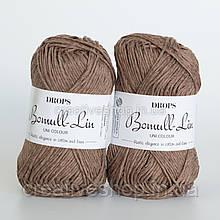 Пряжа Drops Bomull-Lin (цвет 05 brown)