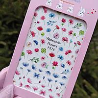 Наклейки для ногтей цветы (слайдер на ногти) №576