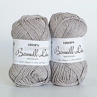 Пряжа Drops Bomull-Lin (колір 15 light grey)