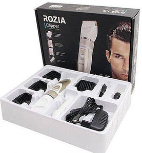 Машинка для стрижки волос и бороды с керамо лезвиями Rozia HQ-2201