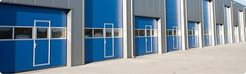 Секційні промислові автоматичні ворота Alutech