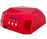 Гібридна ультрафіолетова CCFL+LED УФ лампа 36W Quick CCFL LED Nail Lamp UKC висувне дно, фото 2