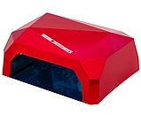 Гібридна ультрафіолетова CCFL+LED УФ лампа 36W Quick CCFL LED Nail Lamp UKC висувне дно, фото 3