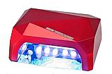 Гібридна ультрафіолетова CCFL+LED УФ лампа 36W Quick CCFL LED Nail Lamp UKC висувне дно, фото 6