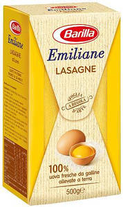 Макарони BARILLA Emiliane Lasagne, 500 г, 15шт/ящ