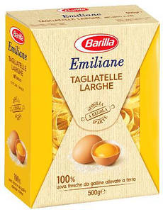 Макарони BARILLA Emiliane Tagliatelle Larghe, 500г, 12шт/ящ