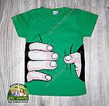 """Стильная летняя футболка для мальчика """"Рука"""", фото 2"""