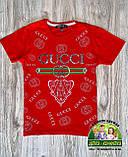 Красная стильная детская футболка Gucci на мальчика 2-3 года, фото 5
