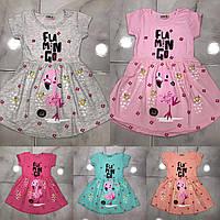 """Платье летнее """"Flamingo"""" 1-8 лет Цвет уточняйте при заказе"""