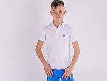 Футболка PHILIPP PLEIN  белая с воротником для подростка