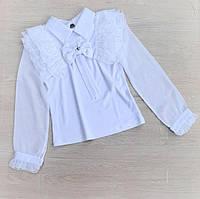 """Блузка дитяча ошатна з рюшами на дівчинку 5-9 років """"MARI"""" купити недорого від прямого постачальника"""