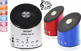 Портативна акустична система WS-A9 з радіо і mp3