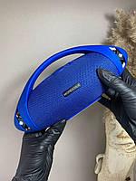 Беспроводная портативная bluetooth колонка HOPESTAR-H37 c функцией speakerphone, радио, синяя хопстар
