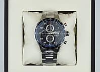 Наручные часы Tag Heuer carrera calibre 16 steel мужские кварцевые с хронографом на стальном браслете