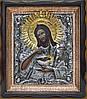 Святой Иоанн Креститель - Писаная икона в серебряном окладе
