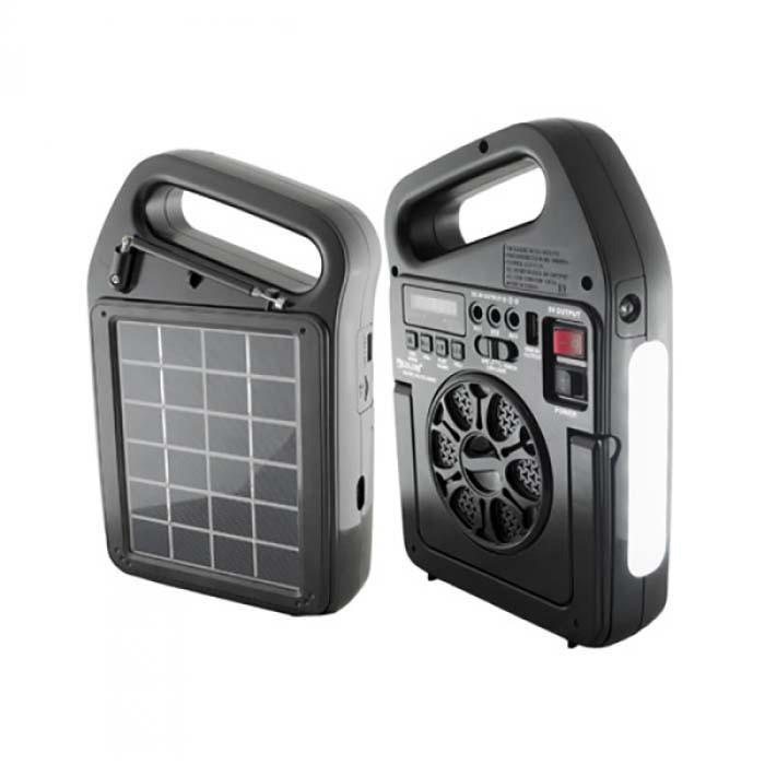 Портативний радіоприймач Golon RX-498LS, Power Bank, usb, sd, сонячна батарея