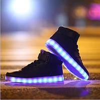 Высокие Светящиеся кроссовки LED