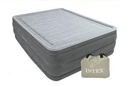 Надувна двоспальне ліжко Intex 64418 з вбудованим електро насосом (152-203-56 СМ)