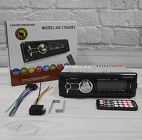 Автомагнітола 1DIN MP3 1784DBT (1USB, 2USB-зарядка, TF card, bluetooth, зйомна панель)