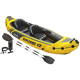 Надувна байдарка Challenger K2 Kayak Intex 68307