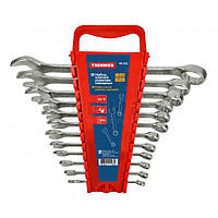 Набір ключів ріжково-накидних, Cr-V, 8шт. (6-19 мм) 48-921 Technics // Набор ключей рожково-накидных, Cr-V