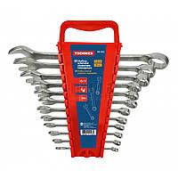 Набір ключів ріжково-накидних, Cr-V,12шт. (6–22 мм) 48-922 Technics // Набор ключей рожково-накидных, Cr-V
