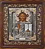 Икона Спасителя - Писаная икона в резном киоте