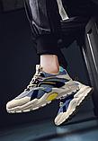 Кроссовки серо-синие, фото 5
