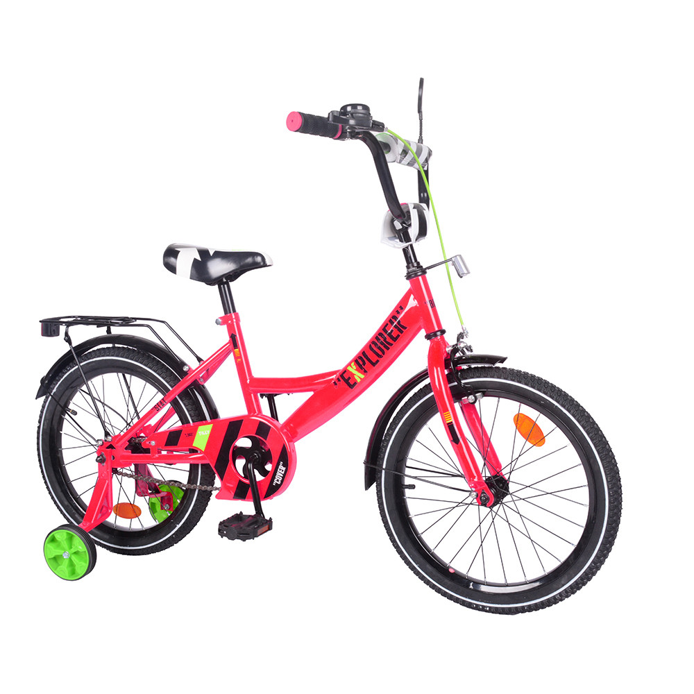 """Велосипед Tilly Explorer двухколесный, детский велосипед EXPLORER 18"""" T-218111 Crimson"""