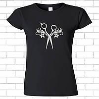 Футболки с принтом. Черная женская футболка, хлопок.