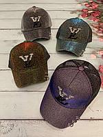 Кепка подростковая голограмма для девочки LV размер 54-55 см, цвета указывайте при заказе