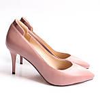 Женские кожаные туфли пудровые, фото 3
