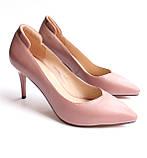 Женские кожаные туфли пудровые, фото 4